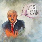 Trump (2016) - Öl auf Leinwand; 115 x 105 cm